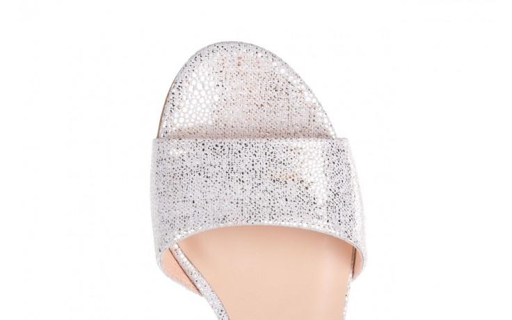 Sandały bayla-056 7049-1152 biały melanż, skóra naturalna  - na obcasie - sandały - buty damskie - kobieta 5
