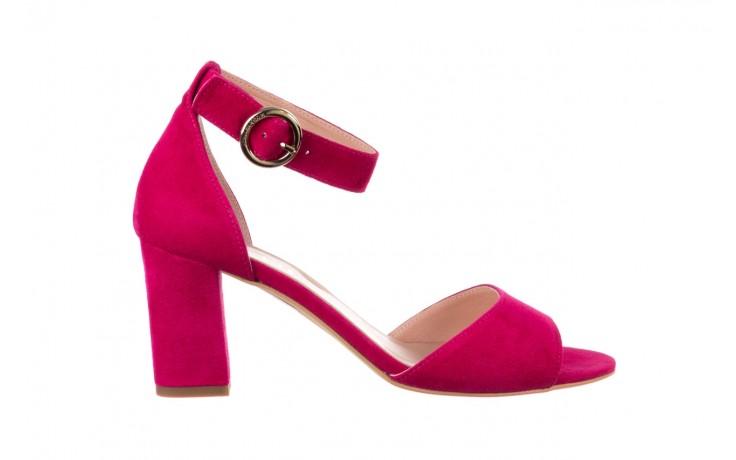 Sandały bayla-056 9249-1311 fuksja zamsz, skóra naturalna  - na obcasie - sandały - buty damskie - kobieta