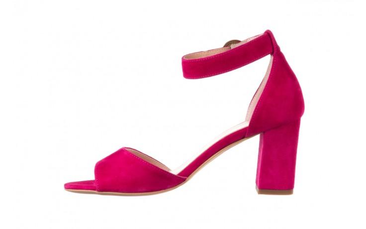 Sandały bayla-056 9249-1311 fuksja zamsz, skóra naturalna  - na obcasie - sandały - buty damskie - kobieta 2