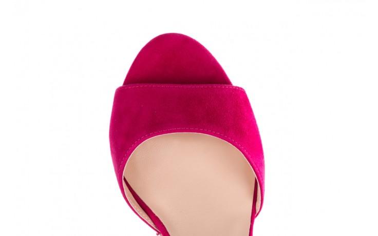 Sandały bayla-056 9249-1311 fuksja zamsz, skóra naturalna  - na obcasie - sandały - buty damskie - kobieta 4