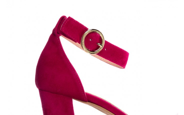 Sandały bayla-056 9249-1311 fuksja zamsz, skóra naturalna  - na obcasie - sandały - buty damskie - kobieta 5