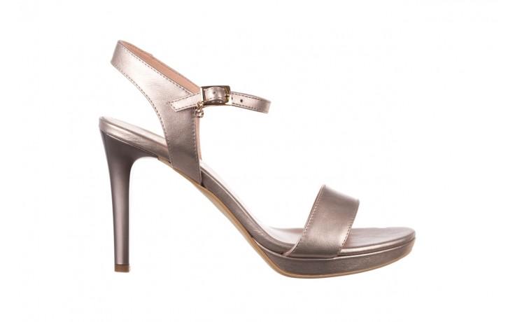 Sandały bayla-056 9163-1099 beż perła, skóra naturalna  - na obcasie - sandały - buty damskie - kobieta