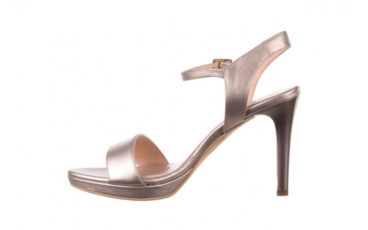 Sandały bayla-056 9163-1099 beż perła, skóra naturalna  - na obcasie - sandały - buty damskie - kobieta 2