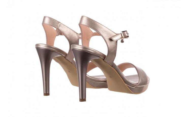 Sandały bayla-056 9163-1099 beż perła, skóra naturalna  - na obcasie - sandały - buty damskie - kobieta 3