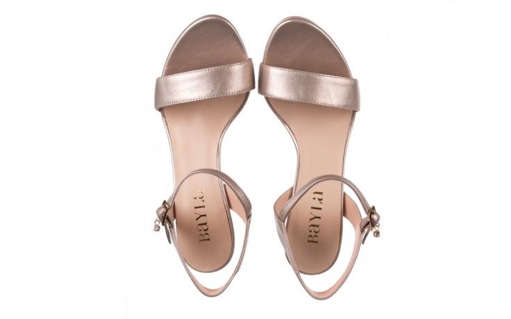 Sandały bayla-056 9163-1099 beż perła, skóra naturalna  - na obcasie - sandały - buty damskie - kobieta 4