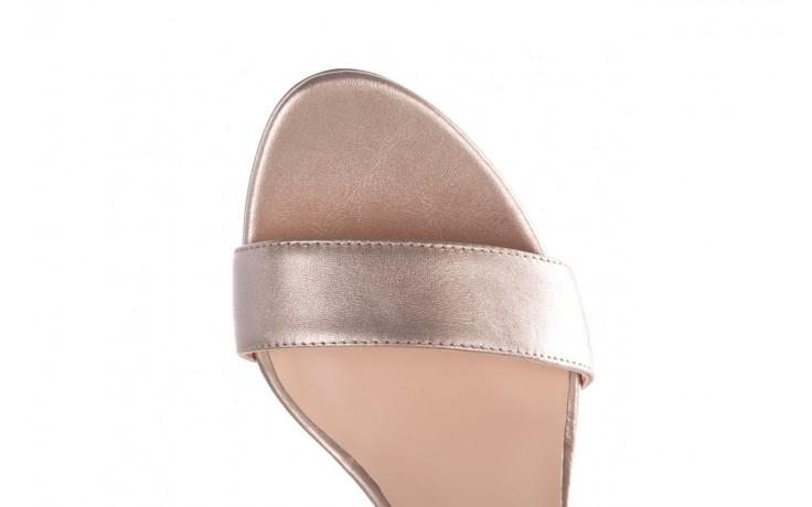 Sandały bayla-056 9163-1099 beż perła, skóra naturalna  - na obcasie - sandały - buty damskie - kobieta 5