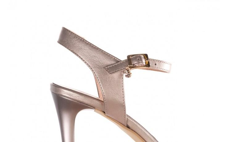 Sandały bayla-056 9163-1099 beż perła, skóra naturalna  - na obcasie - sandały - buty damskie - kobieta 6