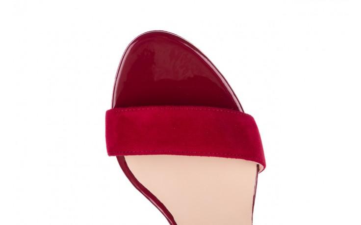 Sandały bayla-056 9163-1432 burgund zamsz, skóra naturalna  - formal style - trendy - kobieta 5