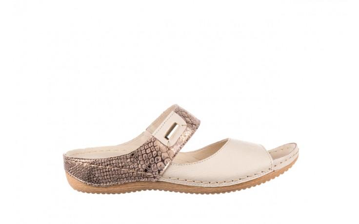 Klapki bayla-100 450 beż, skóra naturalna  - klapki - buty damskie - kobieta