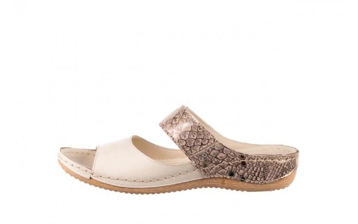 Klapki bayla-100 450 beż, skóra naturalna  - klapki - buty damskie - kobieta 2