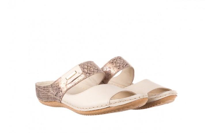 Klapki bayla-100 450 beż, skóra naturalna  - klapki - buty damskie - kobieta 1