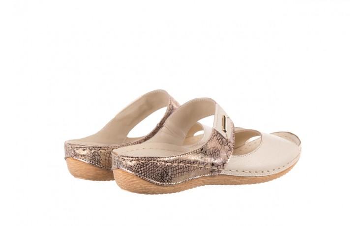 Klapki bayla-100 450 beż, skóra naturalna  - klapki - buty damskie - kobieta 3