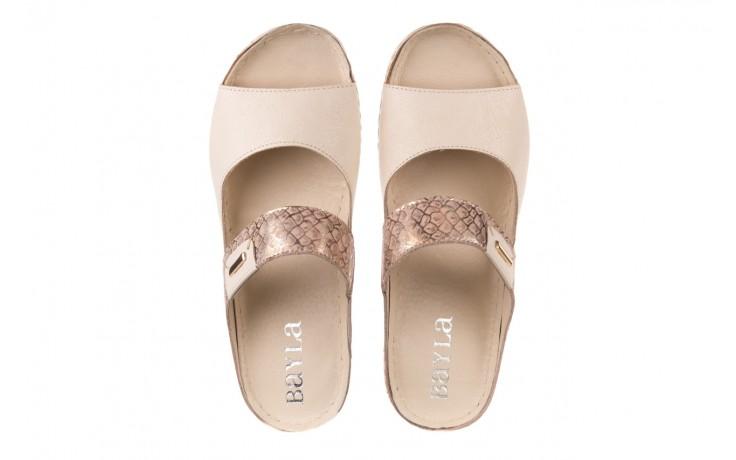 Klapki bayla-100 450 beż, skóra naturalna  - klapki - buty damskie - kobieta 4