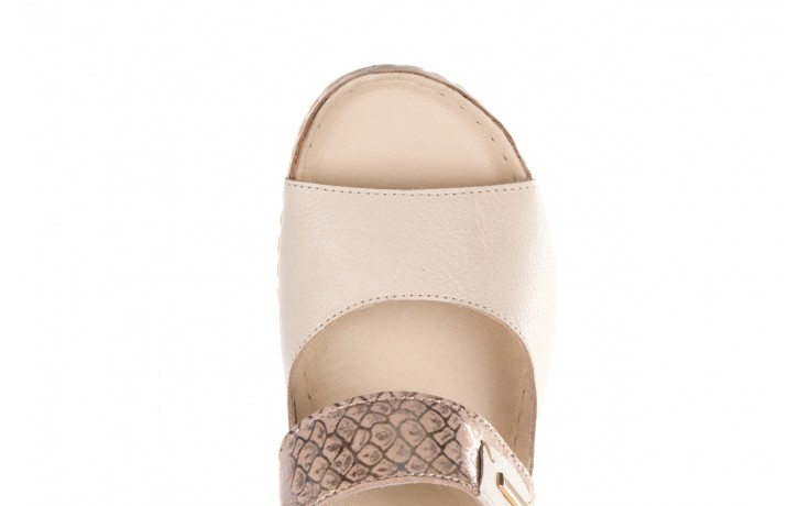 Klapki bayla-100 450 beż, skóra naturalna  - klapki - buty damskie - kobieta 5