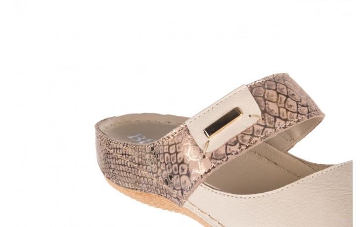 Klapki bayla-100 450 beż, skóra naturalna  - klapki - buty damskie - kobieta 6