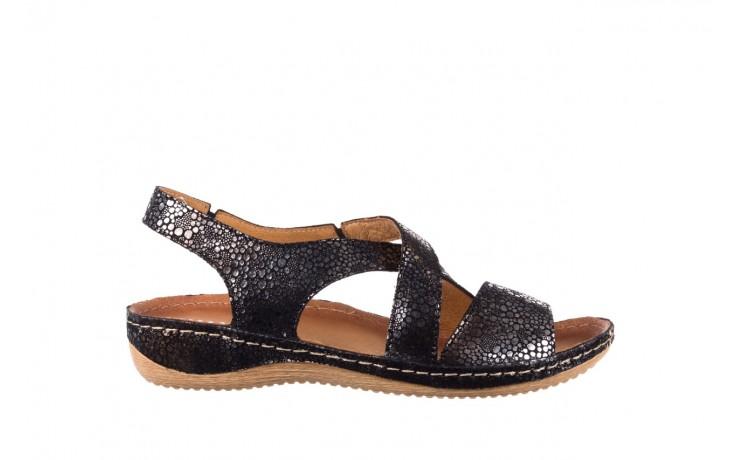 Sandały bayla-100 449 czarny srebrny, skóra naturalna  - dla niej  - sale