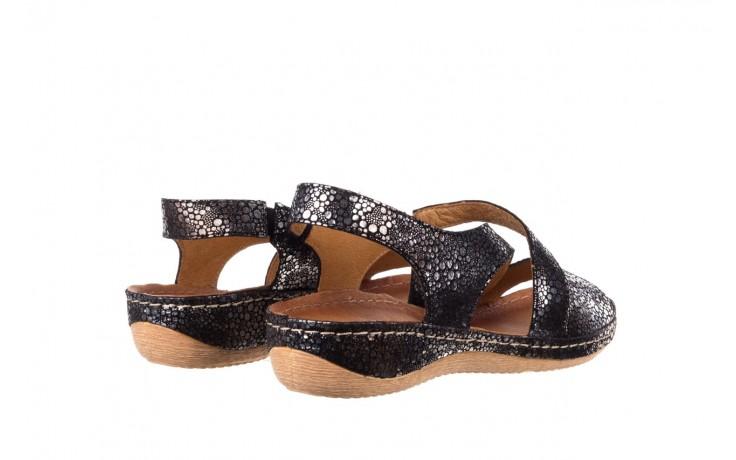 Sandały bayla-100 449 czarny srebrny, skóra naturalna  - dla niej  - sale 3