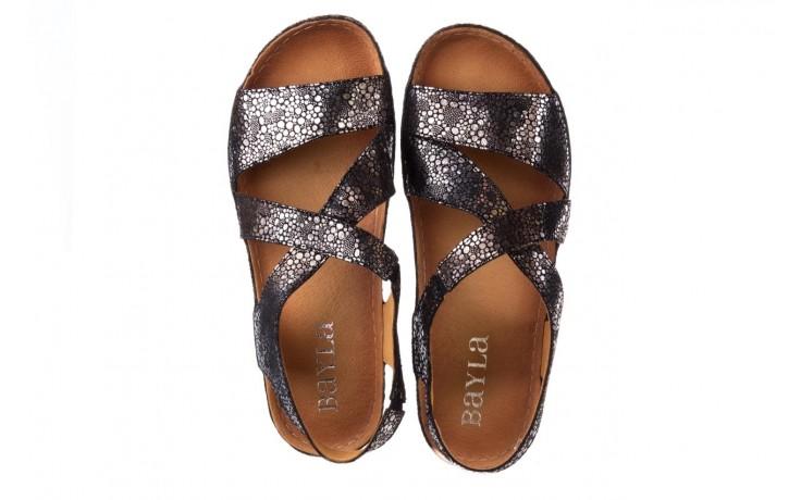 Sandały bayla-100 449 czarny srebrny, skóra naturalna  - dla niej  - sale 4