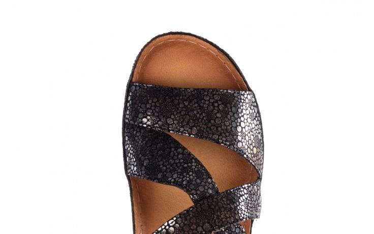 Sandały bayla-100 449 czarny srebrny, skóra naturalna  - dla niej  - sale 5