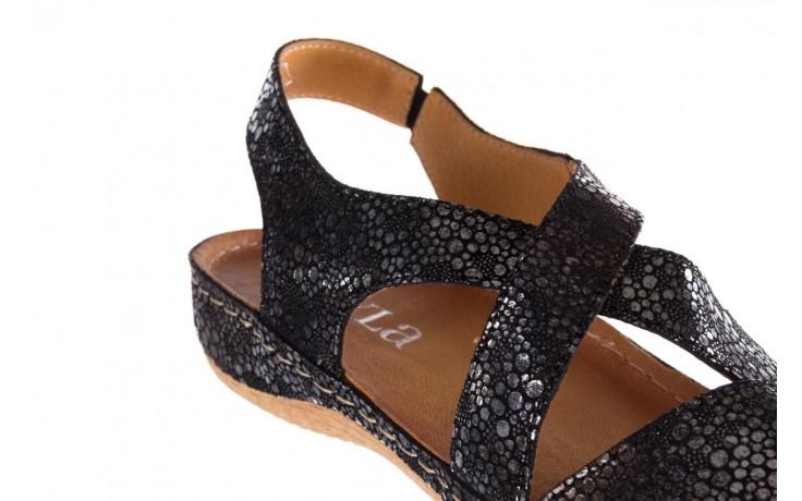 Sandały bayla-100 449 czarny srebrny, skóra naturalna  - dla niej  - sale 6