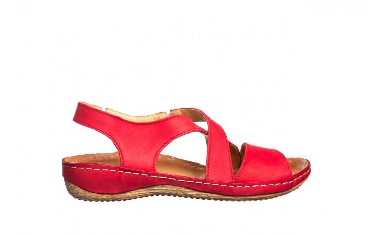 Sandały bayla-100 449 czerwony, skóra naturalna - dla niej  - sale