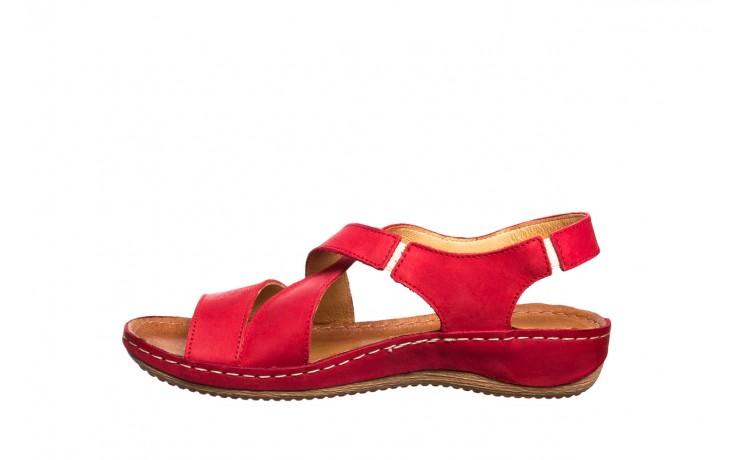 Sandały bayla-100 449 czerwony, skóra naturalna - dla niej  - sale 2