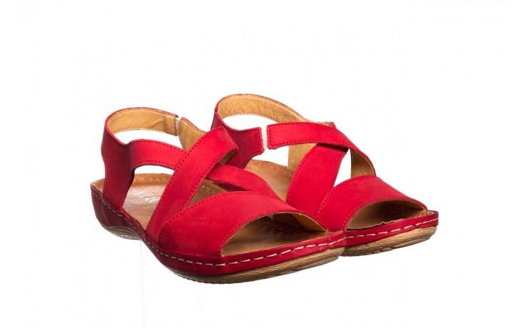 Sandały bayla-100 449 czerwony, skóra naturalna - dla niej  - sale 1