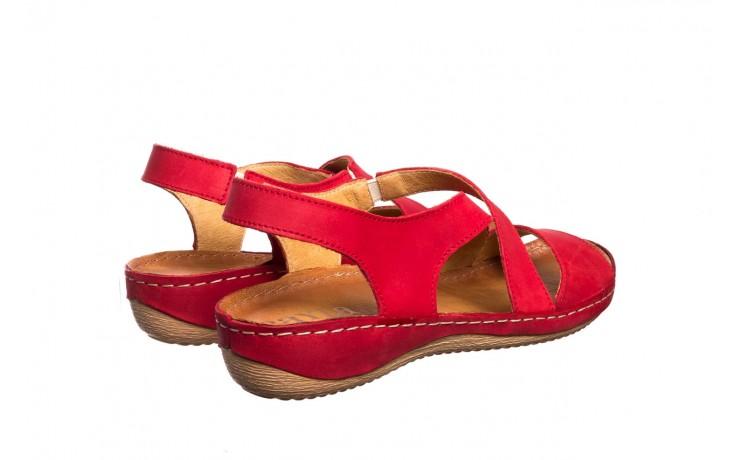 Sandały bayla-100 449 czerwony, skóra naturalna - dla niej  - sale 3