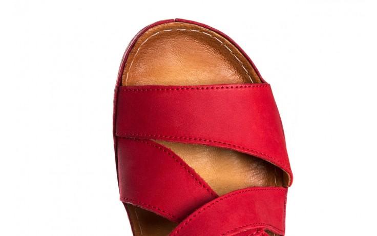 Sandały bayla-100 449 czerwony, skóra naturalna - dla niej  - sale 5