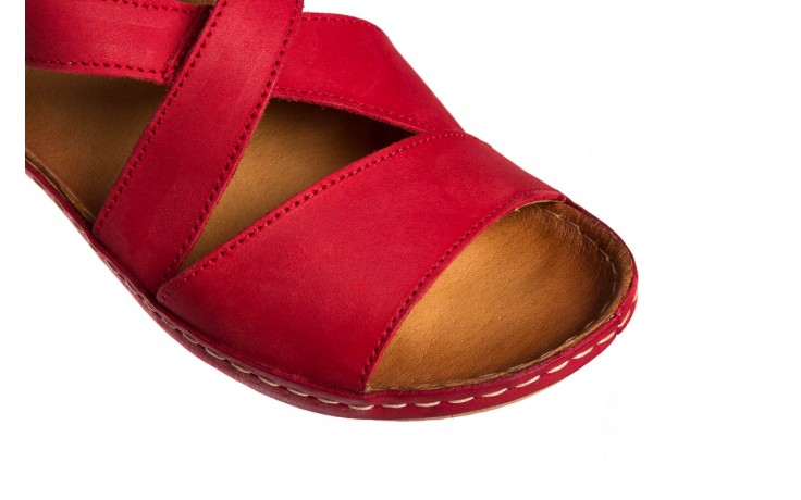 Sandały bayla-100 449 czerwony, skóra naturalna - dla niej  - sale 6