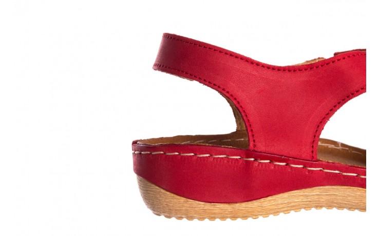 Sandały bayla-100 449 czerwony, skóra naturalna - dla niej  - sale 7