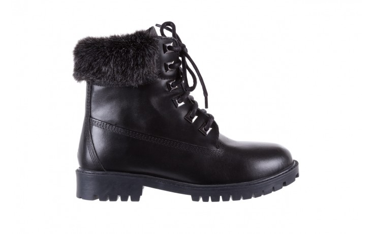 Trzewiki bayla-164 tim 5203 black 164003, czarny, skóra naturalna  - trzewiki - buty damskie - kobieta