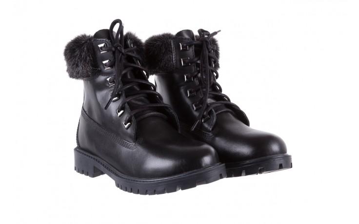 Trzewiki bayla-164 tim 5203 black 164003, czarny, skóra naturalna  - trzewiki - buty damskie - kobieta 1
