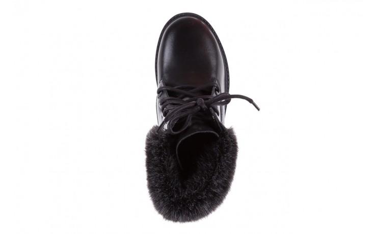 Trzewiki bayla-164 tim 5203 black 164003, czarny, skóra naturalna  - trzewiki - buty damskie - kobieta 4