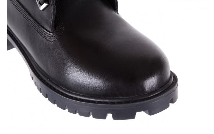 Trzewiki bayla-164 tim 5203 black 164003, czarny, skóra naturalna  - trzewiki - buty damskie - kobieta 5