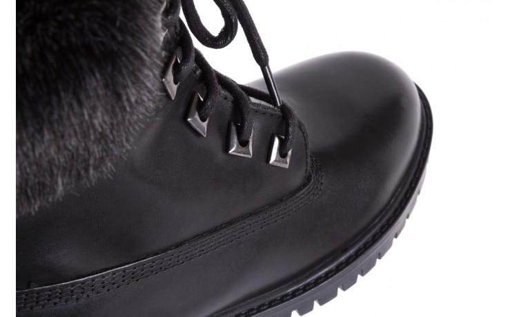 Trzewiki bayla-164 tim 5203 black 164003, czarny, skóra naturalna  - trzewiki - buty damskie - kobieta 6
