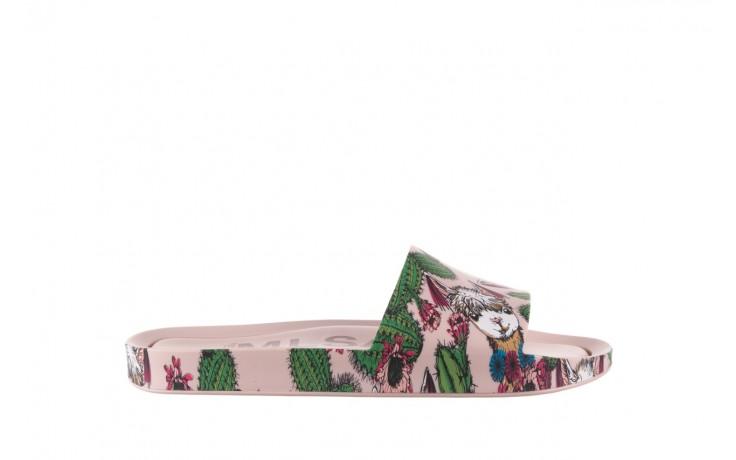 Klapki melissa beach slide 3db iv ad pink green, róż, guma - dla niej  - sale
