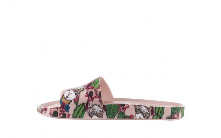 Klapki melissa beach slide 3db iv ad pink green, róż, guma - dla niej  - sale 2