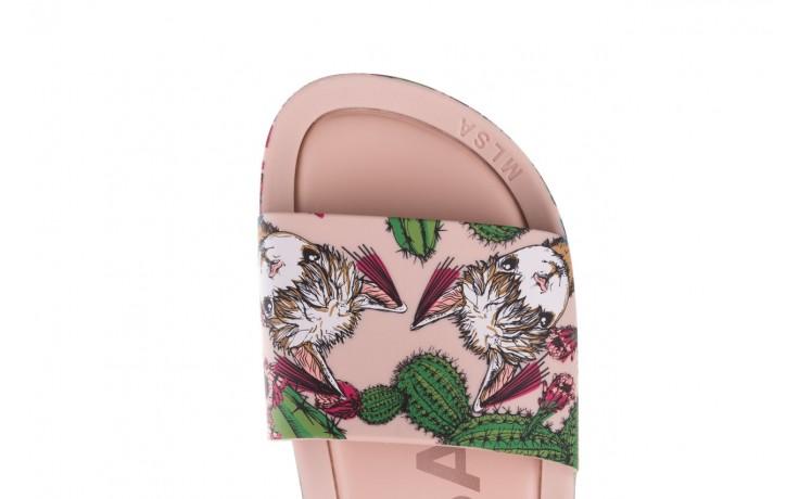 Klapki melissa beach slide 3db iv ad pink green, róż, guma - dla niej  - sale 6