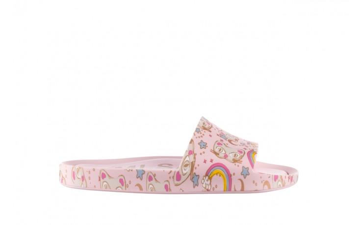 Klapki melissa beach slide 3db iv ad pink gold, róż, guma - klapki - buty damskie - kobieta