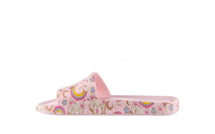 Klapki melissa beach slide 3db iv ad pink gold, róż, guma - klapki - buty damskie - kobieta 2