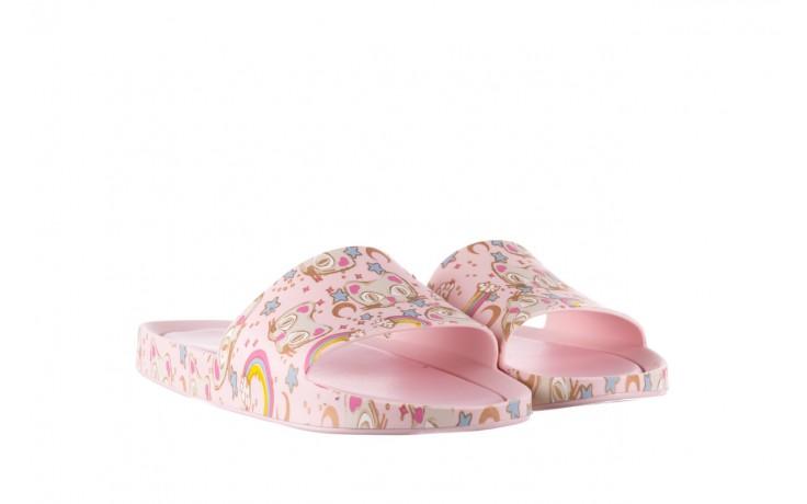 Klapki melissa beach slide 3db iv ad pink gold, róż, guma - klapki - buty damskie - kobieta 1