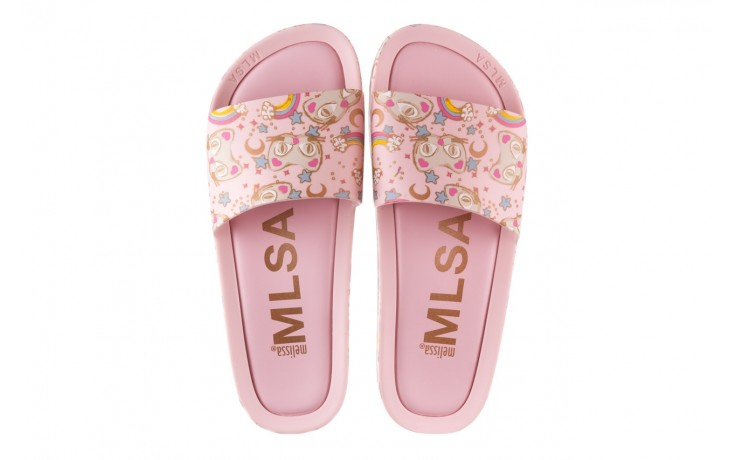 Klapki melissa beach slide 3db iv ad pink gold, róż, guma - gumowe/plastikowe - klapki - buty damskie - kobieta 4