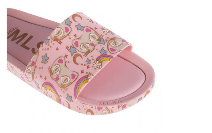 Klapki melissa beach slide 3db iv ad pink gold, róż, guma - klapki - buty damskie - kobieta 5