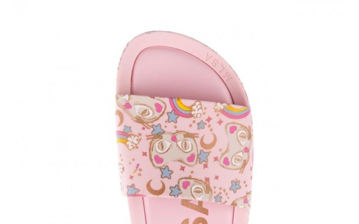 Klapki melissa beach slide 3db iv ad pink gold, róż, guma - klapki - buty damskie - kobieta 6