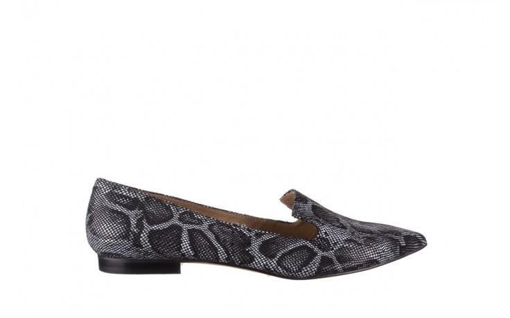 Półbuty bayla-188 001 jaszczurka szary, skóra naturalna - mokasyny i lordsy - półbuty - buty damskie - kobieta