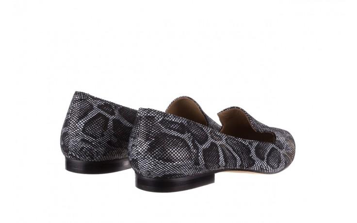 Półbuty bayla-188 001 jaszczurka szary, skóra naturalna - mokasyny i lordsy - półbuty - buty damskie - kobieta 3