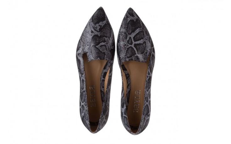 Półbuty bayla-188 001 jaszczurka szary, skóra naturalna - mokasyny i lordsy - półbuty - buty damskie - kobieta 4