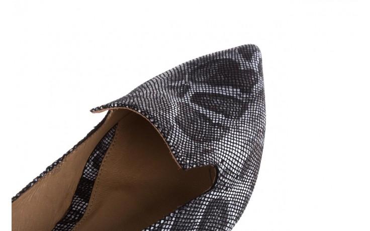 Półbuty bayla-188 001 jaszczurka szary, skóra naturalna - mokasyny i lordsy - półbuty - buty damskie - kobieta 5