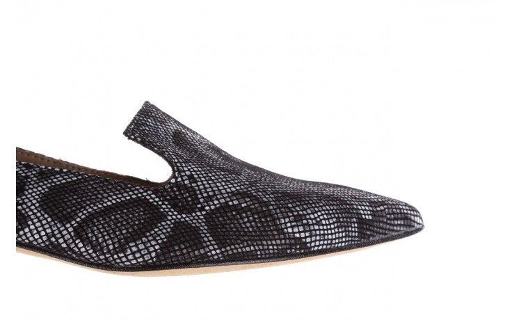 Półbuty bayla-188 001 jaszczurka szary, skóra naturalna - mokasyny i lordsy - półbuty - buty damskie - kobieta 6